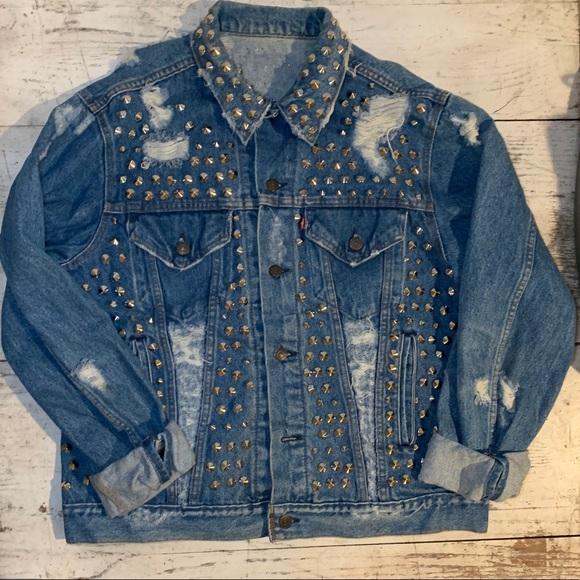 Levi's Jackets & Blazers - Levi's Vintage Distressed Embellished Jean Jacket
